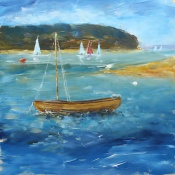 Simple Boat Painting for Arttutor