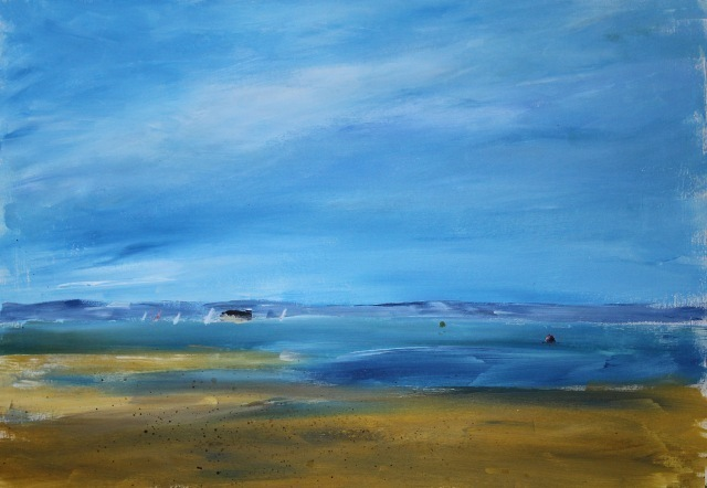 Simple Sky Seascape Painting For Arttutor
