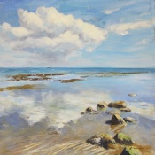 Bembridge reflections  Isle of Wight paintings