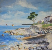 Becky Samuelson Isle of Wight seascape artist, Seaview beach